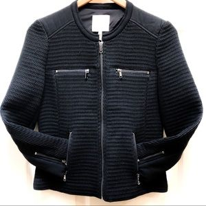 JOIE black zip up jacket long sleeved